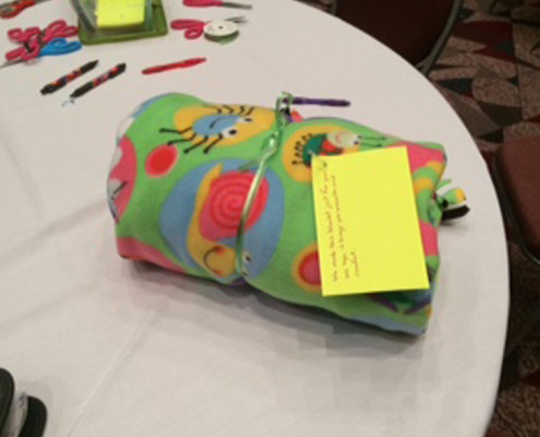 Team Building - Houston, TX - CSR - Build a Blanket 2