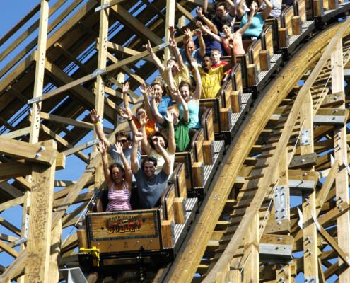 Group Activities – Houston, TX – Kemah rollercoaster