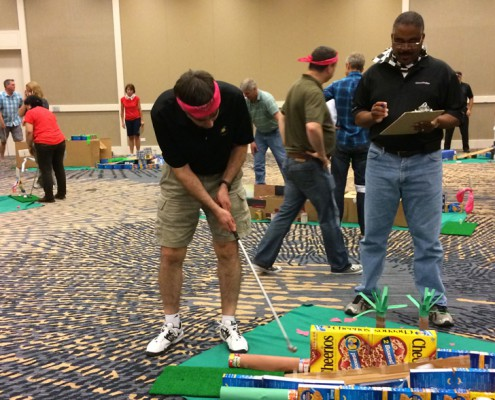 Team Building - Houston, TX - Putting Four People